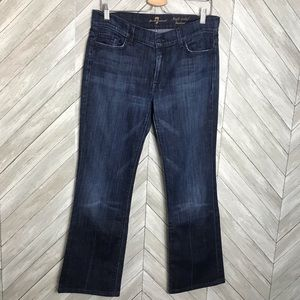 7 For All Mankind High Waist Bootcut Denim Jeans